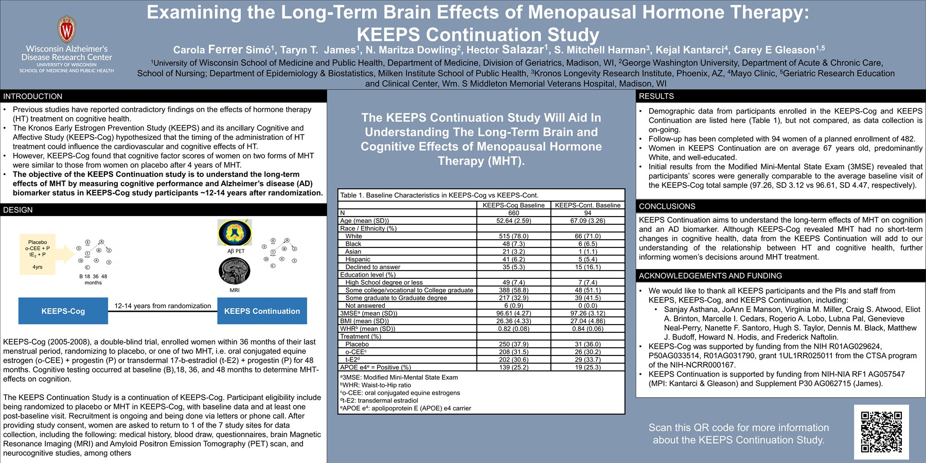 Examining the Long-Term Brain Effects of Menopausal Hormone Therapy: KEEPS Continuation Study
