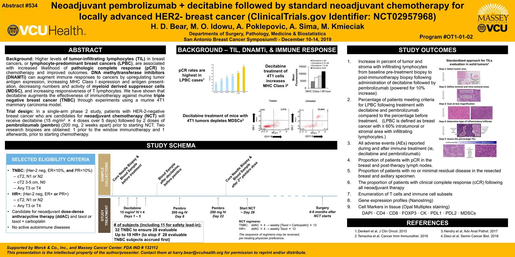 Neoadjuvant pembrolizumab + decitabine followed by standard neoadjuvant chemotherapy for locally advanced HER2-breastcancer
